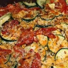 Tomato Zucchini Casserole - A simple vegetable dish that highlights the summer flavors of fresh tomatoes and zucchini. It goes great with grilled meats or poultry