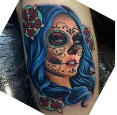 Dia de los muertos tattoo!