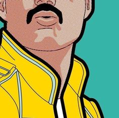 Pop Music… Tribute to great FreddieYou can find Pop music and more on our website.Pop Music… Tribute to great Freddie Freddie Mercury, Pop Art Drawing, Art Drawings, Drawing Ideas, Art And Illustration, Comic Art, Tableau Pop Art, Pop Art Wallpaper, Pop Up Art