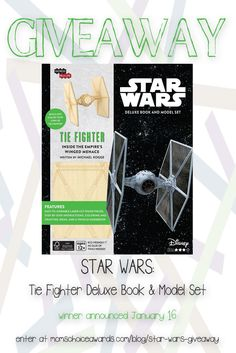 Happy New Year! We're kicking off 2017 with an awesome giveaway! This one is for all the Star Wars fans out there. Now that everyone's had time to enjoy the new Rogue One movie, we're giving away this Mom's Choice Award-winning IncrediBuilds Star Wars Tie Fighter Deluxe Book and Model Set. Enter for your chance to win using the widget on our site.