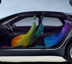 Car Interior Modification Ideas   Car interior design ideas     rainbow car interior   COOL