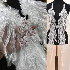 Updates from ZengsLace on Etsy Off White Wedding Dresses, Wedding Lace, Lace Weddings, Feather Pattern, Applique Wedding Dress, India Fashion, Embroidery, Patterns, Search