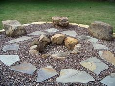 The firepit area wil