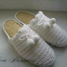 Tina's handicraft : 30 designs for crochet slippers Ribbon Design, Irish Lace, Crochet Slippers, Crochet For Kids, Cross Stitch Embroidery, Crochet Stitches, Handicraft, Knitting, Shoes