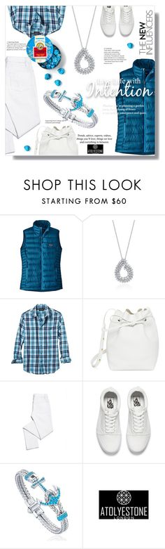 """Atolyestone"" by sans-moderation ❤ liked on Polyvore featuring Patagonia, Banana Republic, Mansur Gavriel, Tory Burch, Vans, Pussycat and atolyestone"