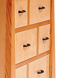 No-sweat, flush-fit, inset drawers