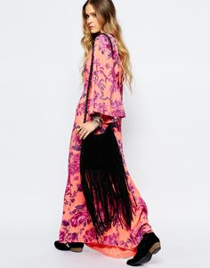Image 4 ofFree People Melrose Printed Maxi Dress in Clementine