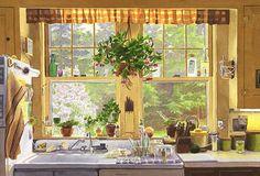 Mary Helmreich - New England Kitchen Window
