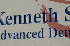 Kenneth Magid Dentistry Sign Detail