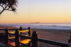 Maroochydore looking towards Old Woman Island at sunrise ~ Sunshine coast, Australia Coast Australia, Australia Living, Queensland Australia, Great Places, Places To See, Beautiful Places, Sunshine Coast, Island Pictures, Beach Cottages