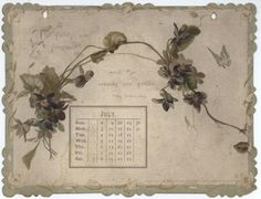 THE SHAKESPEARE CALENDAR FOR 1893 -juli