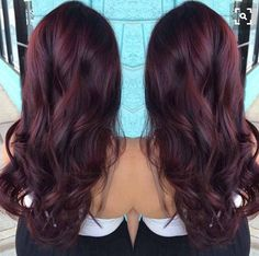 Dark Red Hair Color-dark red and red hair colors - New Hair Hair Color And Cut, Hair Color Dark, Dark Hair, Hair Colour, Dark Cherry Hair, Dark Red Brown Hair, Balayage Hair, Purple Balayage, Balayage Highlights