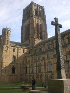 the original central tower of the NORMAN period Durham Cathedral in England was damaged by lightning and replaced in the 15th century - constructed by master stonemasons Thomas Barton and John Bell.