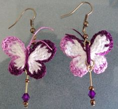 Crochet Fabric, Bead Crochet, Crochet Hooks, Crochet Crafts, Crochet Lace, Crochet Projects, Crochet Accessories, Earrings Handmade, Seed Bead Earrings