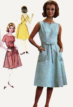 b45a6c2f6f5 Vintage 60s Back Wrap Dress Sewing pattern Advance 3152 1960s MOD Vintage  Sewing Pattern Size 12 B32
