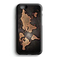 Metal Steampunk World Map iPhone 7 Case