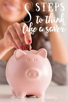 Want to save money in 2017? Retrain your brain to think like a saver. Follow these 8 tips from a frugal living blogger to stop spending and start saving. | Eat, Drink, and Save Money