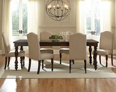$798 $998 Brown and Cream McGregor 5 Piece Dinette Set-Also available as a 7 piece set with 6 chairs for Only...$998 -- 90L x 42W x 31H,