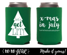 Let's Get Lit, Christmas Decorations, Party Favors, Christmas, Custom Can Cooler, Can Coolers, Beverage Cooler, Coozie