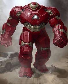 """""""Hulkbuster alternate concept art. #DCMarvelFans"""""""