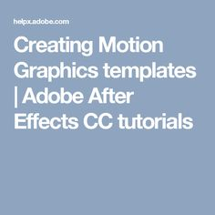Learn how to build lower-third titles, brand identities, or other graphics in Adobe After Effects as Motion Graphics templates for use by editors in Adobe Premiere Pro. Video Effects, After Effects, Adobe Premiere Pro, Photography 101, Motion Graphics, How To Know, Tutorials, Templates, Teaching