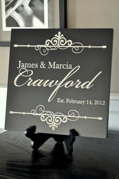 Personalized Family Name Sign Plaque by mrcwoodproducts on Etsy, $35.00