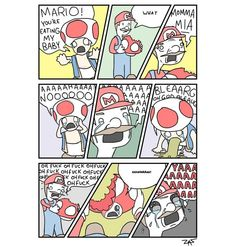 What really happend with Mario when eats a mushroom lol