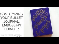 Embossing is all the rage - and is a fun way to add flair to your bullet journal. Learn a bit about how to use embossing powder on your bujo. If you enjoyed ...