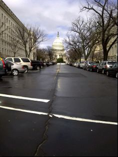 View from Capitol South Metro - Longworth House Office Building to the left. One of the first things I'd see as a Congressional staffer on mornings from 1989 to 1993.