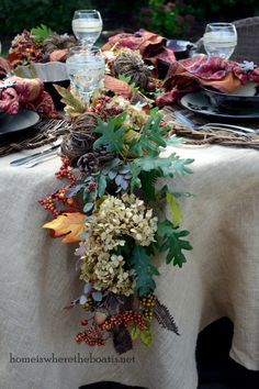 How to enhance a 6ft store bought garland for a lush table display