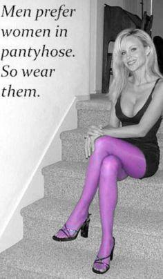 Purple pantyhose Men prefer