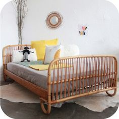 1000 images about rotin on pinterest banquettes rattan and daybeds - Banquette lit vintage ...