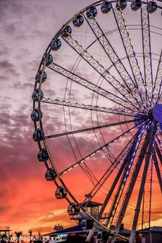 Ferris Wheel in Myrtle beach, South Carolina.  Go to www.YourTravelVideos.com or just click on photo for home videos and much more on sites like this.