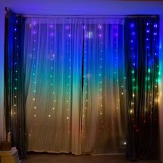13 ft Rainbow LED Fairy Lights , Window LED Lights String Lights for Rustic Wedding Decoration and h Art Deco Wedding Decor, Wedding Wall Decorations, Light Decorations, Wedding Art, Bedroom Decor For Teen Girls, Teen Girl Bedrooms, Bedroom Ideas, Led Fairy Lights, Led String Lights