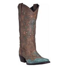 Laredo Women's Tan and Turquoise Cross Point Western Boots 52032 in Clothing, Shoes & Accessories, Women's Shoes, Boots | eBay