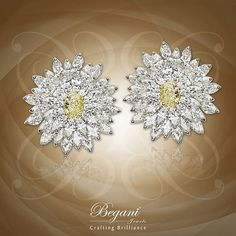 """""""Colours speak what words fail of"""" Gleam with these natural yellow oval with marquise and pear shaped diamond earrings  #diamondearrings #yellowdiamond #pearshapediamond #marquisediamond #luxuryjewelry #finejewelry #begani_jewels #beautiful #elegantjewelry"""