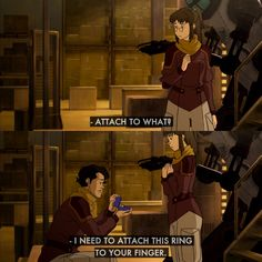 Legend of Korra: Somebody propose to me like Varrick. Ask me to do the thing...
