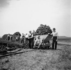 Bowmore Single Malt Whisky, To continue our look at the past of our Island and distillery through photography, here is how we used to take peat from the peat bogs Peat Moss, Single Malt Whisky, Always Remember, Distillery, Scotland, Dolores Park, The Past, Island, Couple Photos