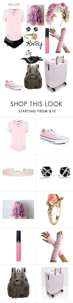"""RWBY Oc 3"" by lord-nightshade ❤ liked on Polyvore featuring Boohoo, Converse, Humble Chic, David Yurman, Vintage, Armani Beauty, Ted Baker and Monsoon"