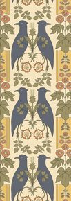 Falcon & Hollyhock by: Trustworth Studios, a British design studio, has some of the most beautiful original wallpaper designs.