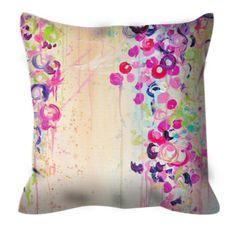 HGTV Featured DANCE of the SAKURA Suede Throw Pillow Cushion
