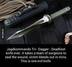Mind Blowing Facts, Jagdkommando Tri- Dagger : Deadliest knife ever.