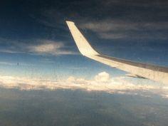 Nubes de México desde la ventana del avión.
