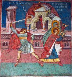 12 novembre (/30 octobre) - Saints Zénobe, évêque d'Egée et sa sœur Zénobie, martyrs.  Kondakion des Saints, ton 8 : Comme témoins véritables et prédicateurs de la piété, * honorons dignement par des hymnes divinement inspirés * Zénobe et la sage Zénobie * car c'est ensemble qu'ils ont vécu et qu'ils ont quitté cette vie ** & qu'ils ont reçu la couronne d'incorruptibilité par le martyre.