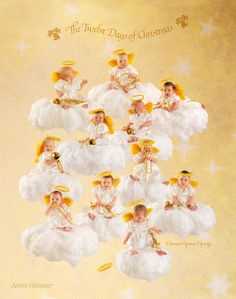 Christmas Art - Eleven Pipers Piping by Anne Geddes Anne Geddes, Work Pictures, Cute Baby Pictures, Baby Photos, Beautiful Pictures, Twelve Days Of Christmas, Christmas Art, Christmas Things, Little Buds