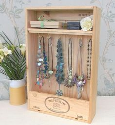 New wall hanging jewellery shelves