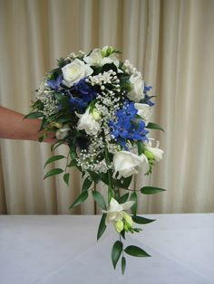 blue and white wedding bouquet - Google Search