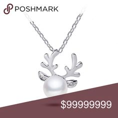 Coming: Reindeer Pearl Pendant Silver Color COMING SOON: LIKE FOR ARRIVAL NOTIFICATION    Reindeer Pearl Pendant Silver Color   18 inches with 2 inch extender  These are the cutest Holiday / Christmas Jewelry pieces !!!     Matching earrings available    Gold color available golden threads Jewelry Necklaces