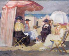Lucien Jonas (1880 - 1947) Beach scene