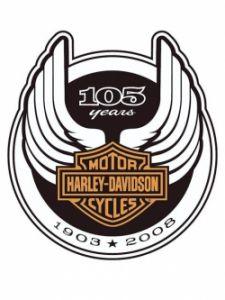 Harley-Davidson anniversary logo, with curved wings and a circular border. Evolution of logos. Harley Davidson Logo, Harley Davidson Kunst, Harley Davidson Pictures, Harley Davidson Wallpaper, Motor Harley Davidson Cycles, Davidson Bike, Harley Davidson Chopper, Harley Davidson Motorcycles, Harley Davison